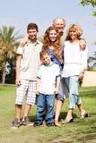 Grandparents com crianças, ao ar livre Foto de Stock Royalty Free