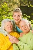 Grandparents com neta Imagem de Stock