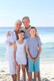 Grandparents com seus netos Foto de Stock