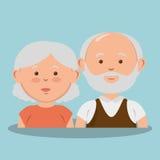 Grandparents couple avatars characters Royalty Free Stock Photos