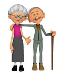 Grandparents 3d Royalty Free Stock Image