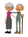 Grandparents 3d Stock Photography
