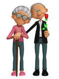 Grandparents 3d Royalty Free Stock Photo