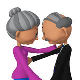 Grandparents 3d Royalty Free Stock Photography