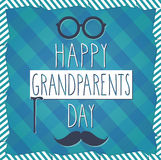 Grandparents Day blue poster. Cloth background Stock Photography