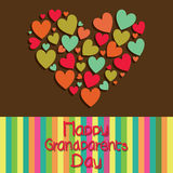 Grandparents day. Happy grandparents day text with a big abstract heart on special background vector illustration