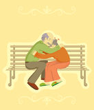 Grandparents Day. Vector design element Stock Images