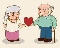 Grandparents design. Stock Images