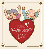 Grandparents design. Royalty Free Stock Image