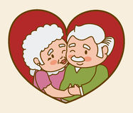 Grandparents design. Royalty Free Stock Photography