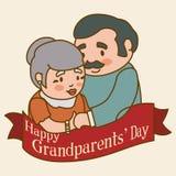 Grandparents design. Royalty Free Stock Images