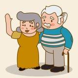 Grandparents design. Stock Image