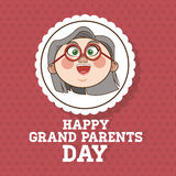 Grandparents design, people vector Royalty Free Stock Photography