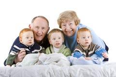 Grandparents e netos fotografia de stock