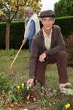 Grandparents gardening Royalty Free Stock Image