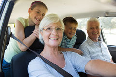 Grandparents going on road trip with grandchildren Stock Photo