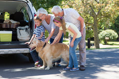 Grandparents going on road trip with grandchildren Royalty Free Stock Image