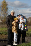Grandparents with grandchild Royalty Free Stock Photography