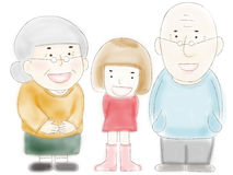 Grandparents and grandchild Royalty Free Stock Image