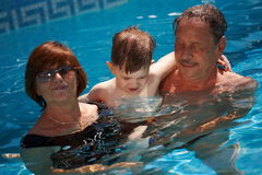 Grandparents and grandchild Stock Images