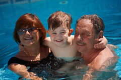 Grandparents and grandchild Stock Photography