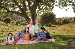 Grandparents Grandchild Picnic Royalty Free Stock Photos