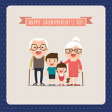 Grandparents and grandchildren. Stock Photography