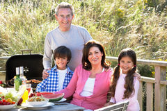 Grandparents And Grandchildren Having Outdoor Barbeque Royalty Free Stock Photo