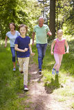 Grandparents With Grandchildren Running Through Countryside Royalty Free Stock Images