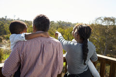 Grandparents And Grandchildren Standing On Observation Deck stock images