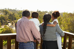 Grandparents And Grandchildren Standing On Observation Deck stock photos