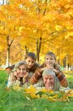 Grandparents and grandchildren royalty free stock photo