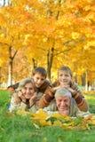Grandparents and grandchildren Royalty Free Stock Photo