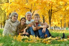Grandparents and grandchildren Stock Photo
