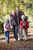 Grandparents and grandchildren on walk Royalty Free Stock Image