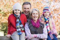 Grandparents and grandchildren on walk. Grandparents and grandchildren on autumn walk stock photos