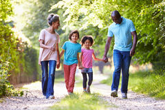 Grandparents With Grandchildren Walking Through Countryside Royalty Free Stock Photos