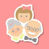 Grandparents and granddaughter Royalty Free Stock Photography