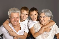 Grandparents with grandkids Royalty Free Stock Photo