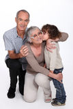 Grandparents with grandson. Grandparents with their much loved grandson Royalty Free Stock Images