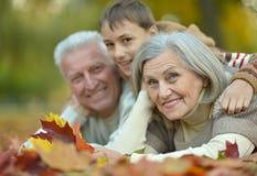 Grandparents and grandson Stock Image