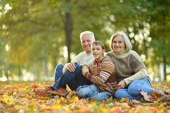 Grandparents and grandson Royalty Free Stock Photography