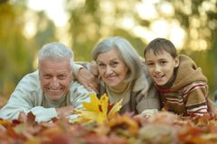 Grandparents and grandson Stock Photography