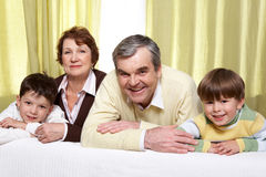 Grandparents and grandsons Stock Image