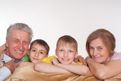 Grandparents and grandsons Royalty Free Stock Photo