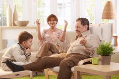 Grandparents at home Royalty Free Stock Images