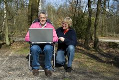 Grandparents with a laptop Royalty Free Stock Photo