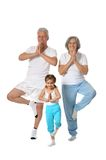 Grandparents with little girl Stock Photography