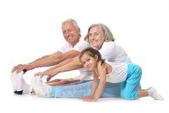 Grandparents with little girl Royalty Free Stock Photos