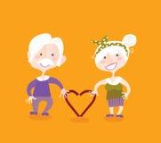 Grandparents no amor Imagem de Stock Royalty Free